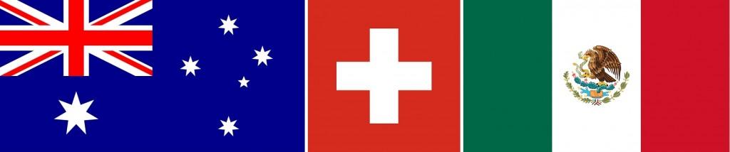 Một số cờ các nước không theo tỷ lệ 2:3 - Cờ Austraulia 1:2 - Cờ Thụy Sĩ 1:1 - Cờ Mexico 4:7