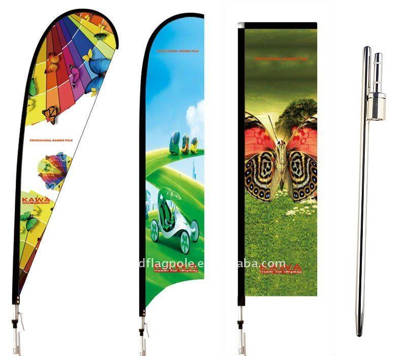 Cán cờ cắm bãi biển dài 50 cm