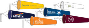Cờ gió in logo, thương hiệu công ty